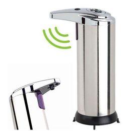 Wholesale Touchless Liquid Soap Dispensers - Touchless Stainless Steel Handsfree Automatic IR Sensor Soap Liquid Dispenser 250ml Fingerprint Resistant Liquid Infrared IR Sensor Soap