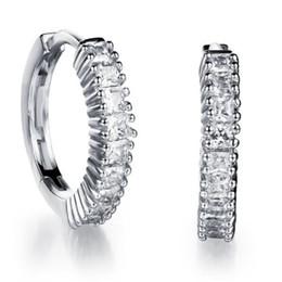 Wholesale Dangle Diamond Cross Earrings - WPY JEWELRY Earrings For Women Fashion Accessories 18K Gold Platinum Plated CZ Diamond Row Stud Earrings Jewelry SDE644