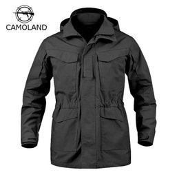 Wholesale M65 Coat - Wholesale-4 Colors Tactical Jacket Men M65 Coat Male Parka Winter Windbreaker Military Clothes Autumn Army Field Jacket Male Clothing