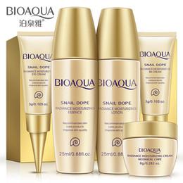 Wholesale Bb Sets - Brand Face Skin Care Set 5Pcs Facial Cream 50g Eye Cream 3ml BB Cream 3ml Toner 25ml Essence Lotion 25ml Brightening Moisturizing Concealer
