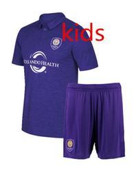 Wholesale Uniform City - ORLANDO CITY 2017 KAKA SHEA LARIN NOCERINO thai quality soccer uniform kids kits football shirts free shipping