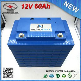 Wholesale 12v Lifepo4 - High Safety 12V 60Ah Li-ion LiFePO4 Battery for Solar Power System EV HEV Car scooter UPS Street lamp or Bike FREE SHIPPING