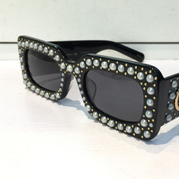 Wholesale Popular Designs - 0146S Sunglasses Black Acetate Square Frame With Popular 0146 Design Frame Popular UV Protection Sunglasses Top Quality Fashion Summer Style