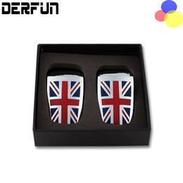 Wholesale Cooper Union - 1 Pair Car Styling Wiper Spray Nozzle Cover Union Jack Decorative Sequins Accessories For BMW MINI Cooper Clubman