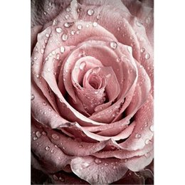 Wholesale Painting Drop Cloth - Drop rose Diy Diamond Painting Full Resin Square Drill home decor Rhinestone Pasted wallpaper poster gift 20X30CM HWC-809