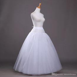 Wholesale Tulle Crochet - New In-Stock A-Line Wedding Petticoat Slips Bridal Underskirt Crinoline White Tulle Slips petticoat Free Shipping Wedding Accessory