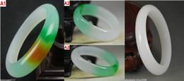 Wholesale Multicolor Jade Bracelet - 3 Colors, Wholesale Asia Natural Multicolor   Afghanistan Jade Bangle Bracelet Inside diameter:56mm-62mm
