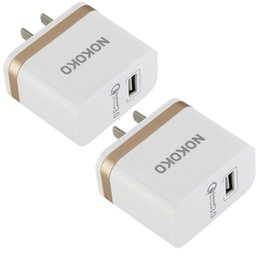 Wholesale android qualcomm - Nokoko Best Quality Qualcomm QC 3.0 Quick charger US Wall charger 3A Power adapter for iphone 6 7 8 Samsung s7 s8 android phone mp3