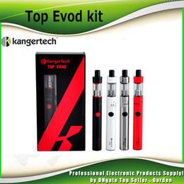 Wholesale Original Kanger Evod Starter Kit - Original kangertech Topevod starter kit with kanger 1.7ml top evod toptank atomizer 650mah evod battery vocc coil vs subvod mega 2211058