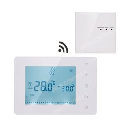 Wholesale Temperature Controller Wireless - BOT-X306 Wireless Touch Screen Programmable Gas Boiler Thermostat for Room Heating Temperature Controller Regulator Kid Lock