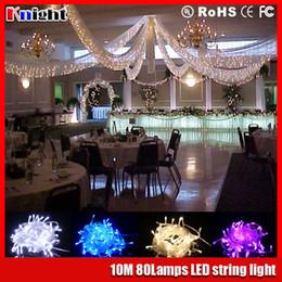 Wholesale Curtains Kid - 10m 80 100lamps LED String Light 33ft 220V home Decoration Light for Christmas Party Wedding room christmas kid gift color light DIY 10packs