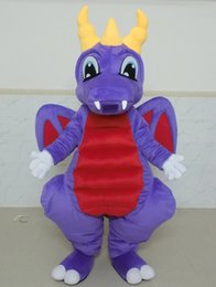 Wholesale Dragon Mascot Purple - SX0722 Good vision and good Ventilation a purple dragon mascot costume with big eyes for adult to wear