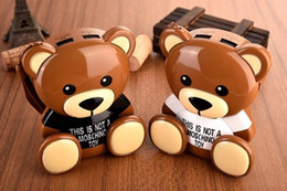Wholesale Mobile Hanging Teddy Bear - 12000mAh power bank Lovely cartoon brown teddy bear Dual USB External Battery with hang rope for iphone samsung mobile