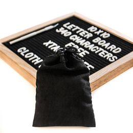 cartas de madeira frete grátis Desconto 10x10 Polegadas Preto Sentiu Carta Board 340 Personagens de Plástico Branco Letras Livre Faca de Artesanato De Madeira De Carvalho Quadro Cavaletes Crianças Brinquedos Frete Grátis 938