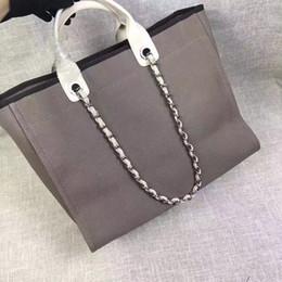 Wholesale Names Shops - fashion Famous fashion brand name women Shopping Bag Beach bag handbags Canvas Shoulder bag chains of capacity bags