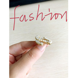 Wholesale Wedding Accessories For Women - Women fashion rhinestone crystal brand designer brooch 3.3*2.5cm Suit lapel pin brooch for gift party bridal jewelry accessories