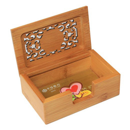 Wholesale Free Business Stationery - Business card holder Case Bamboo wood Handiwork Free Shipping Desktop Type Personality card holder stationery creative gift