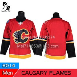 Wholesale Flame Numbers - 2014 Cheap Wholesale ICE Hockey Jerseys Calgary Flames blank No name number Authentic Free Shipping