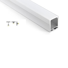 Wholesale 28mm Led - 50 X 1M sets lot Recessed wall led aluminum profile and 28mm deep U led channel profile for wall or pendant lamps