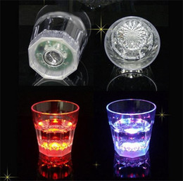 Wholesale Engraving Supplies - LED Light Cup Multi Color Induction Mugs Creative Design Octagonal Wine Glasses For Bar Festival Party Supplies 4 9jc C