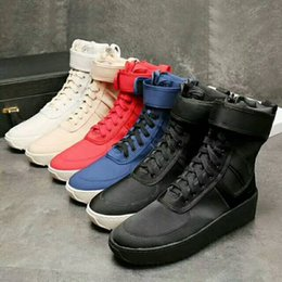 Wholesale Italy Boots Men - 2018 Fear God Fog Winter Boots With Original Box Made in Italy Men Winter Shoes fear god High shoe FOG military boots