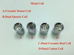 Wholesale Rods For Sale - Hot sale Quartz Donut Ceramic Rod Coil Dual Cotton Coil Wax Metal Coil replacment Core for vase cannon bowling atomizer glass globe atomizer
