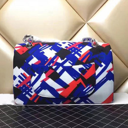 Wholesale Graffiti Hard - canvas double flap bags handbags women famous brands Graffiti quilted bag fashion lattice chain shoulder crossbody bags luxury designer bag