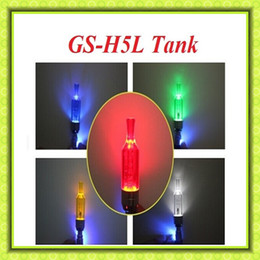 Wholesale Ego Twist Led - GS-H5L Atomizer Clearomizer Colorful GS-H5L Tank with LED Light for eGo T eGo Twist eGo C EVOD battery VS CE4 Atomizer