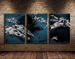 Wholesale Oil House - 3 Panel HD Large Oil Painting on Canvas Wall Picture Abstract Space for House Decoration or Sofa Background No Frame Free Shipping