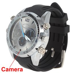 Wholesale Full Audio - 16GB Hd 1080P Mini Waterproof Camcorders Mini Watch Camera Watch DVR with Ir Night Vision Portable Camcorders Video Audio Recorder Mini DVR