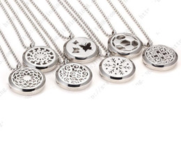 """Wholesale premium heart - 2016 Premium Aromatherapy Essential Oil Diffuser Necklace Locket Pendant, 316L Stainless Steel Jewelry with 28"""" Chain"""