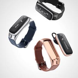 Wholesale Heart Telephone - M6 new intelligent bluetooth bracelet support android ios bluetooth headset metallic simple sense Bluetooth telephone caller id