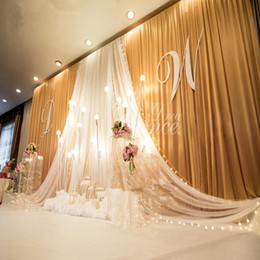 Wholesale Christmas Swags - 3*6m wide swags of backdrop valance wedding stylist backdrop swags Party Curtain Celebration Stage Performance Background Satin Drape wall