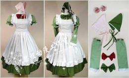 traje completo de miku hatsune Rebajas Al por mayor-Anime APH Maid Delantal Vestido Axis Powers Hetalia Hungría Cosplay (un vestido puede ser como dos vestidos)