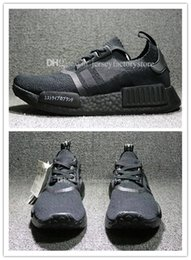 Wholesale Flat Sneakers For Men - Wholesale Cheap New NMD R1 Primeknit Triple Black White Japan BZ0220 BZ0221 Nmds PK Mens Running Shoes for men sneakers Womens Size 36-45