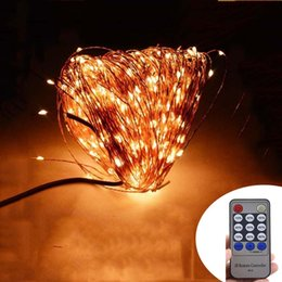Wholesale Copper Plug Power - Wholesale- Remote Control + 50M 165Ft 500 LEDs Copper Wire Warm White LED String Light Starry Lights + Power Adapter (UK, US, EU, AU Plug)