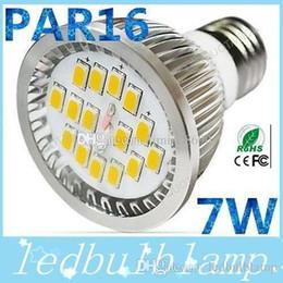 Wholesale E27 Spotlight Lm - CREE LED AC 85-265V GU10 7W Led Light Bulbs 16 SMD 5630 700 LM Ultra Bright Warm White Led Lamp