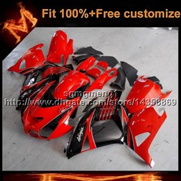 Wholesale Kawasaki Ninja Gold - 23colors+8Gifts red Injection mold motorcycle cowl For Kawasaki ZX-14R 06-12 ZX 14R 06 07 08 09 10 11 12 green black Aftermarket Fairing