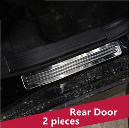 Wholesale Welcome Stickers - Stainless steel Rear Door Sills threshold strip decoration Welcome pedal trim 2pcs for Mercedes Benz GLK 200 260 300 2012-15