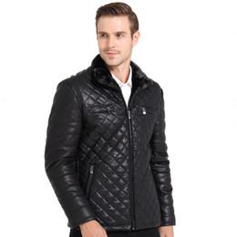 Wholesale Luxury Fleece Jackets - Fall-M-3XL !!! 2015 Winter Jacket Men Classic Luxury Add Wool Warm Leather Jacket Men Fashion Leather Jacket Mens Jackets And Coats