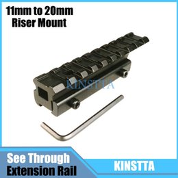 Wholesale 11mm Mounts - KINTTA Tactical 9 Slot Low Riser 11mm to 20mm Extension Weaver Picatinny Rifle Rail Base Airsoft Scope Mount Rail Accessories
