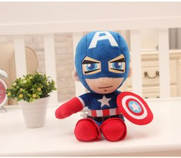 Wholesale Captain America Stuffed Animal - Short plus Captain America Stuffed Animals Doll The Avengers Superman Spiderman Batman Plush Toys Marvel Heros Action Figure Kids Gifts F022