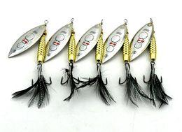 Wholesale Wholesale Blade Baits - NEW Big Game saltwater Fishing Spinner Metal Jigs bait 8.7cm 17.5g Fly Fishing VIB Blades Spinnerbaits Bass Fishing