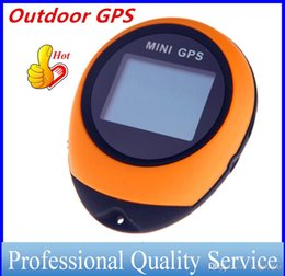 Wholesale Usb Gps Receivers - 2016 Mini GPS Receiver Navigation Tracker Handheld Tracking Location Finder USB with Compass for Outdoor Travel free DHL OUT0411