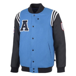 Wholesale Mens College Jackets - New Arrival Black Jacket Men winter thickening Fashion Mens Single Breasted Patchwork Varsity Letter man College Baseball Jacket Men's Cloth