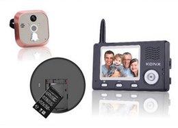 Wholesale Security Camera Peepholes - NEW 2.4 GHz digital Wireless Video door phones Home Security Peephole Viewer door phone control