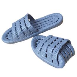 Wholesale Beach Sandal Bathroom - Wholesale-Hot Sale Beach Shoes Casual Men Sandals Slippers Summer Outdoor Flip Flops Flats Sandals Non-slip Bathroom Home Massage Slippers