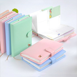 Wholesale Wholesale Book Binding Supplies - Wholesale- Weekly Planner Sweet Notebook Creative Student Schedule Diary Book Color Pages School Supplies