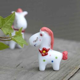 Wholesale Pony Material - Cute Cartoon Love Pony Desktop Resin Handicraft Moss Terrarium Micro Landscape Assembled Toys Fairy Garden Bonsai Craft DIY Material Zakka