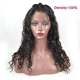 wavy permed hair Coupons - Wet And Wavy Full Lace Human Hair Wigs For Black Women Virgin Peruvian Water Wave Lace Front Wigs Natural Hairline